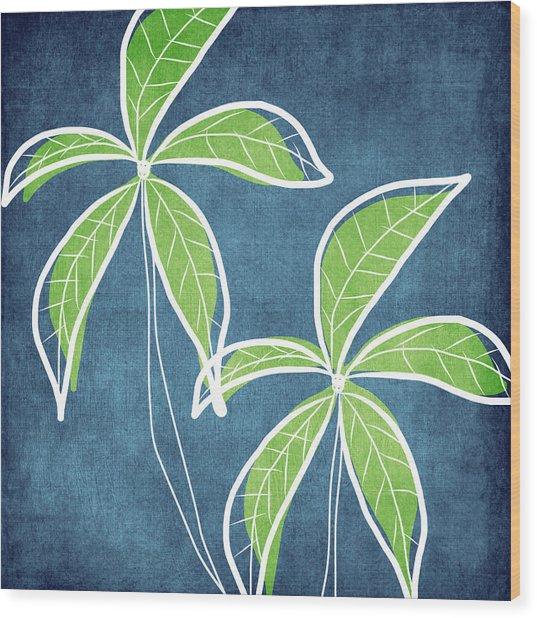Paradise Palm Trees Wood Print