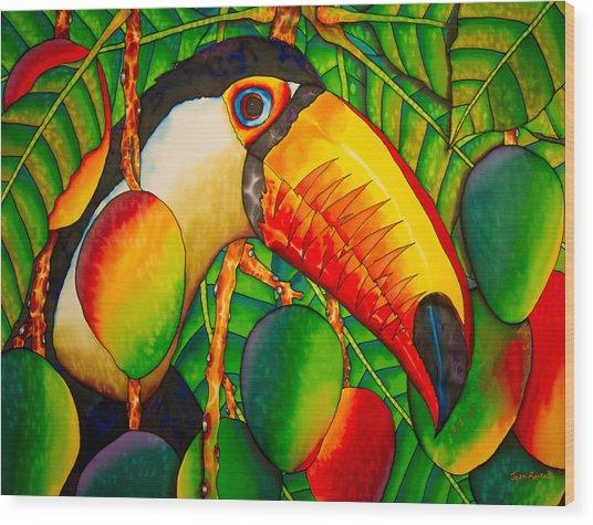 Paradise Toucan Wood Print