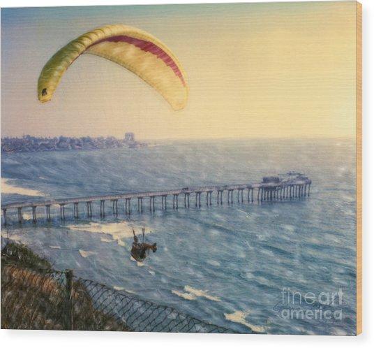 Paragliding Torrey Pines Wood Print