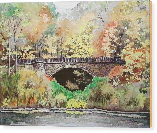 Parapet Bridge - Mill Creek Park Wood Print