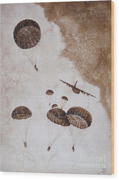 Paratroopers Wood Print