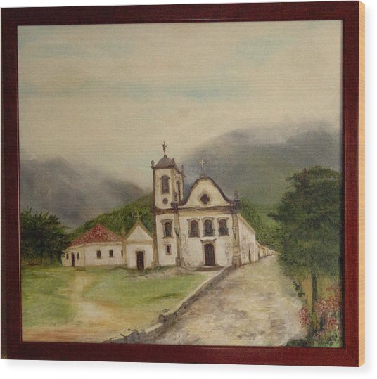 Paraty Church  Wood Print