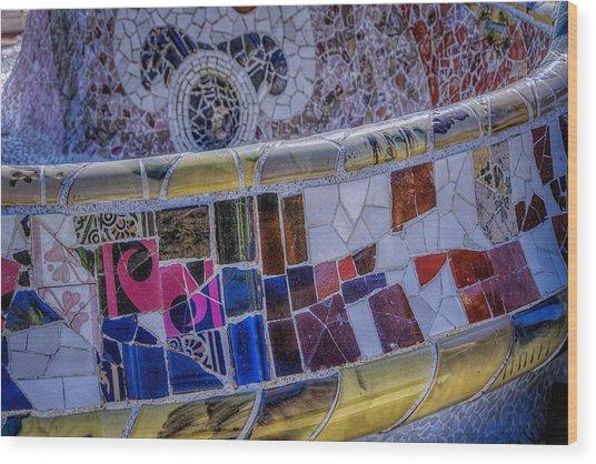 Parc Guell Trencadis Wood Print