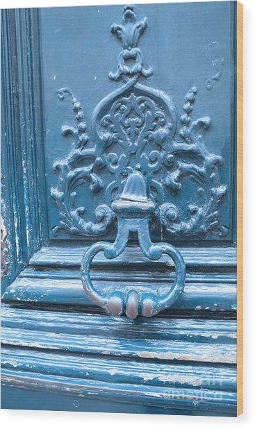 Paris Blue Vintage Door   Paris Antique Vintage Blue Door Knocker   Paris  Door Architecture Wood