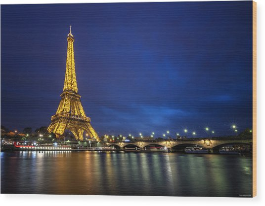 Wood Print featuring the photograph Paris Blues by Ryan Wyckoff