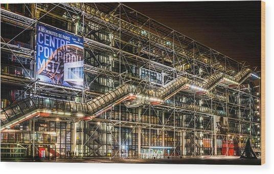 Paris Centre Pompidou Wood Print by Tomas Horvat