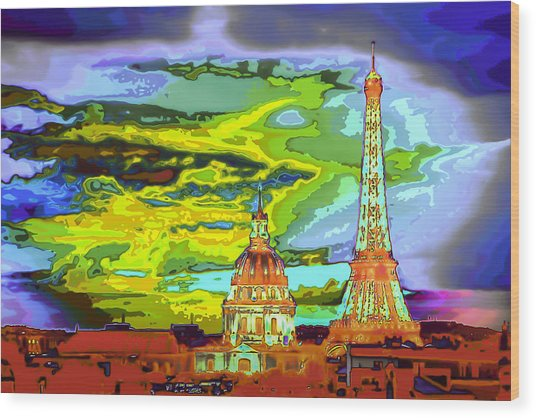 Paris - City Of Lights Wood Print
