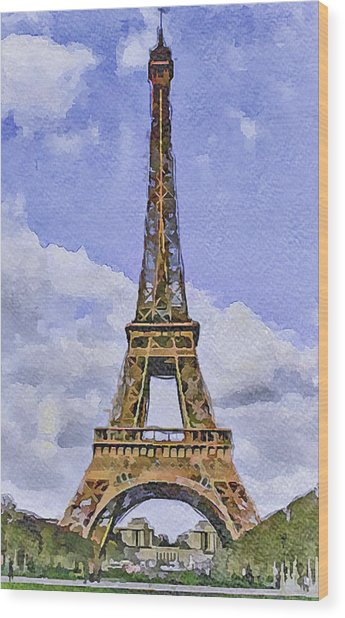 Paris Eiffel Tower 2 Wood Print by Yury Malkov