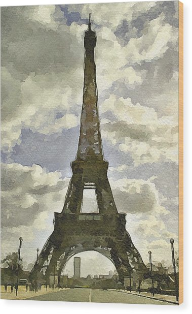 Paris Eiffel Tower 4 Wood Print by Yury Malkov