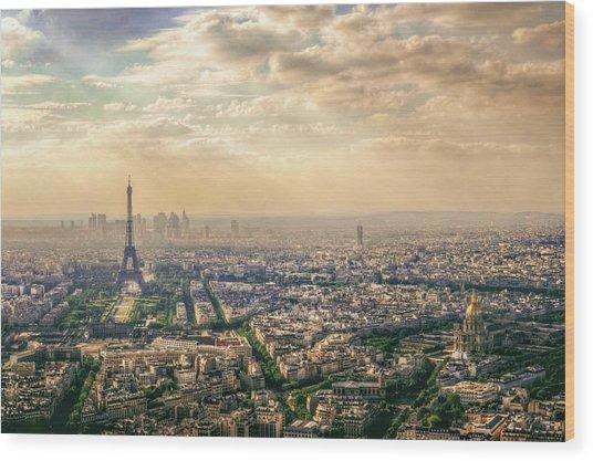 Paris, France Wood Print by Mohamed Kazzaz