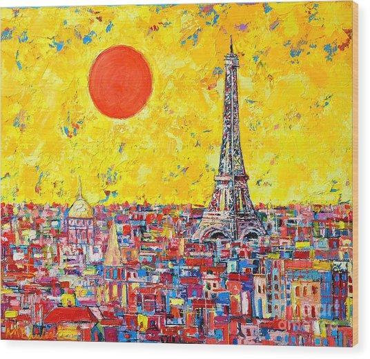 Paris In Sunlight Wood Print