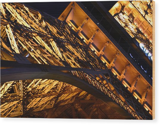 Paris Las Vegas Eiffel Tower Wood Print