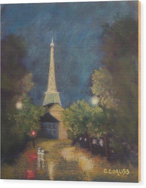 Paris Lights Wood Print
