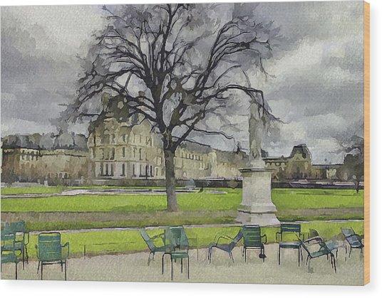 Paris Louvre 1 Wood Print by Yury Malkov