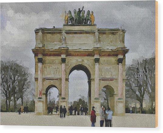 Paris Louvre 4 Wood Print by Yury Malkov
