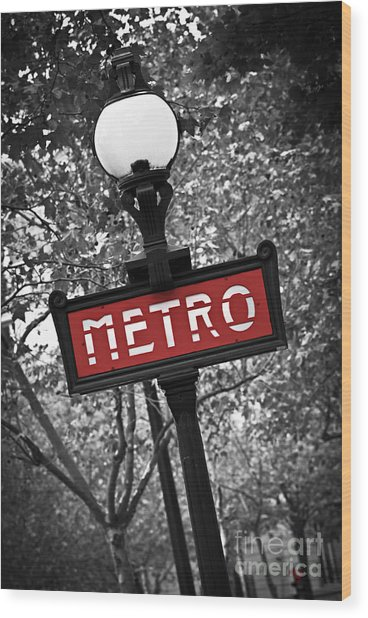 Paris Metro Wood Print