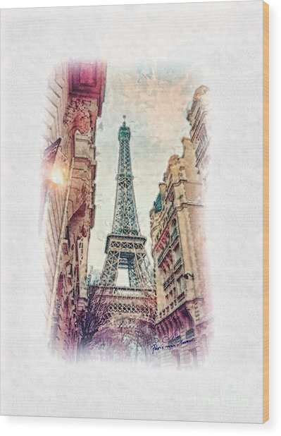 Paris Mon Amour Wood Print