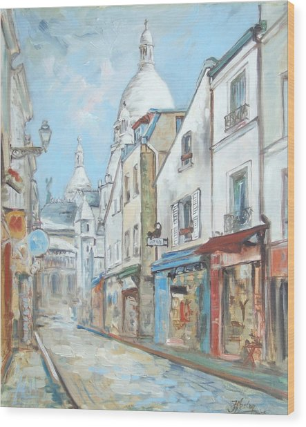 Paris - Montmartre Wood Print
