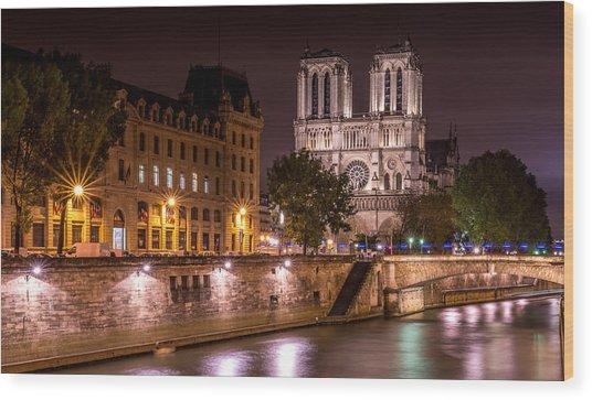 Paris Notre Dame Wood Print by Tomas Horvat