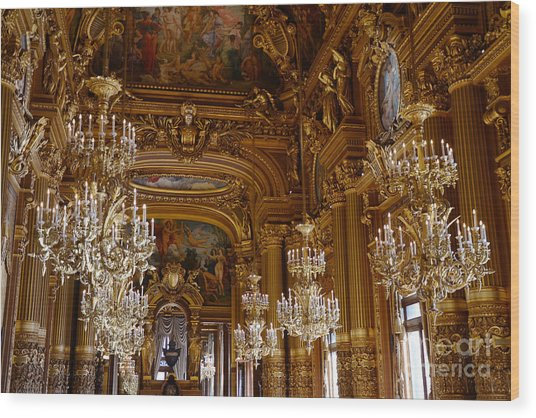 Opera garnier wood prints and opera garnier wood art pixels paris opera house opulent chandeliers paris opera garnier chandelier room crystal chandeliers wood print aloadofball Images