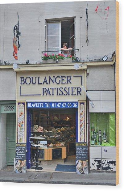 Paris Patissier Wood Print