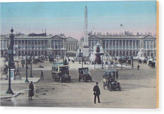 Paris Place De La Concorde 1910 Wood Print