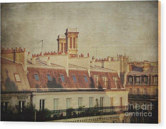 Paris Rooftops Wood Print