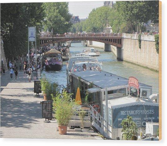 Paris - Seine Scene Wood Print