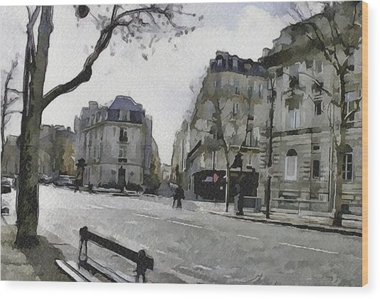 Paris Streets 1 Wood Print by Yury Malkov