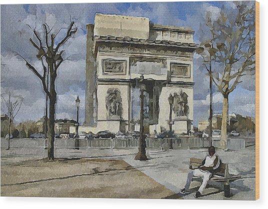 Paris Streets 2 Wood Print by Yury Malkov