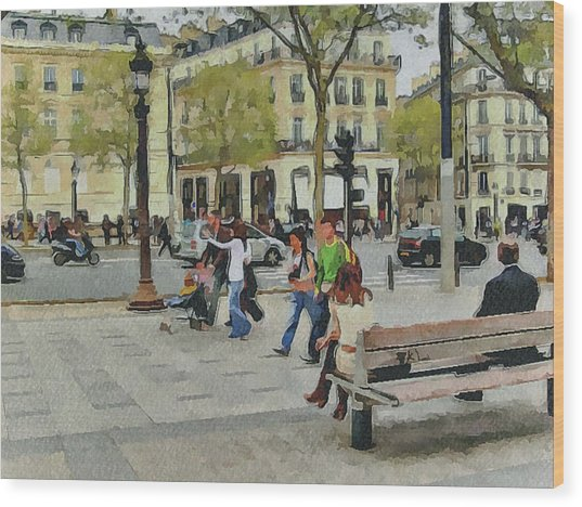 Paris Streets 4 Wood Print by Yury Malkov