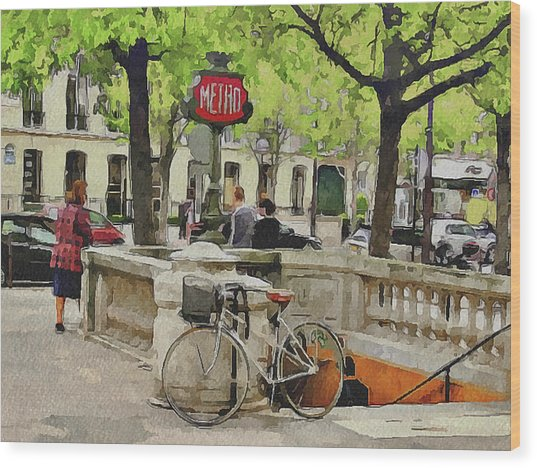Paris Streets 5 Wood Print by Yury Malkov