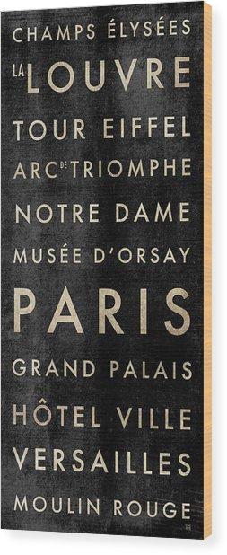 Paris Subway Wood Print
