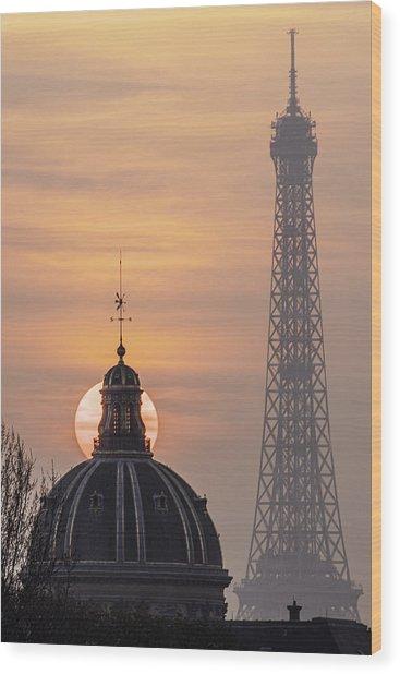 Paris Sunset IIi Wood Print
