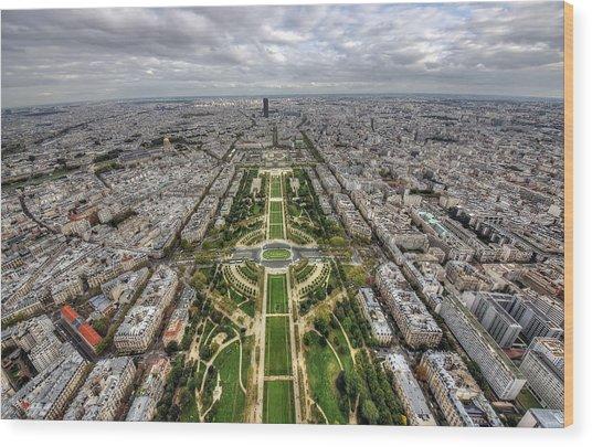 Paris Wide View Wood Print by Ioan Panaite