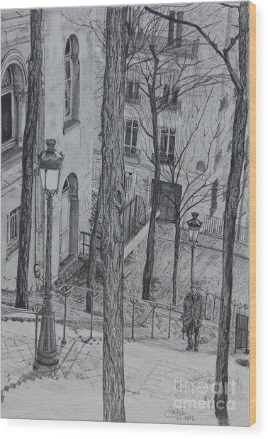 Parisienne Walkways Wood Print