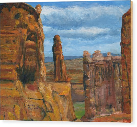 Park Avenue Arches National Park Wood Print