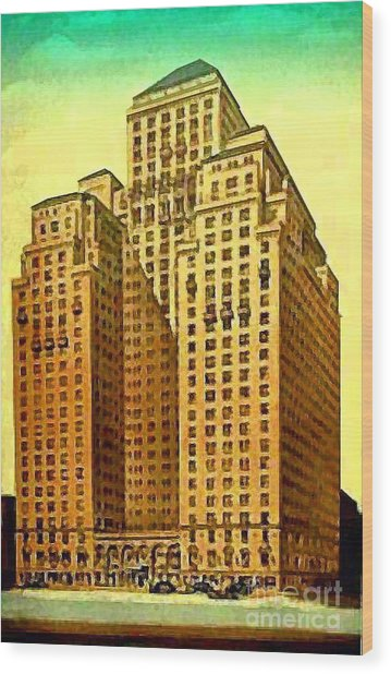 Park Central Hotel In New York City Wood Print by Dwight Goss