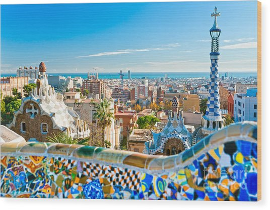 Park Guell - Barcelona Wood Print