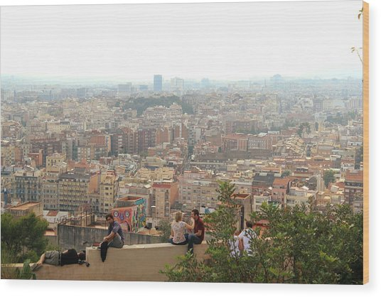 Park Guell Barcelona Wood Print by Jon Cotroneo