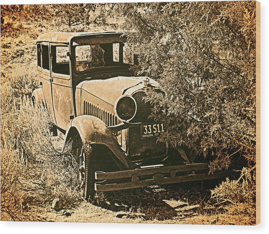 Parked 3 Wood Print by Leland D Howard