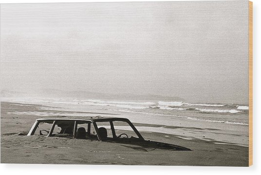 Parked Wood Print