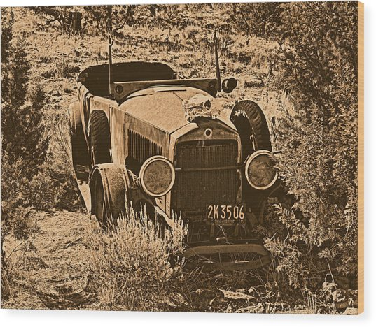 Parked Wood Print by Leland D Howard