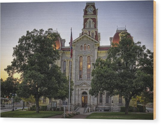 Parker County Courthouse Wood Print