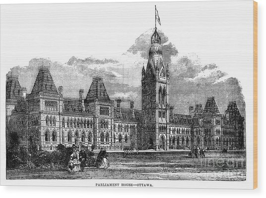 Parliament Building - Ottawa - 1878 Wood Print