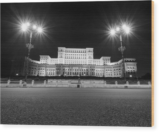Parliament Building Wood Print by Ioan Panaite