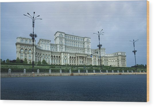 Parliament In Bucharest Wood Print by Ioan Panaite