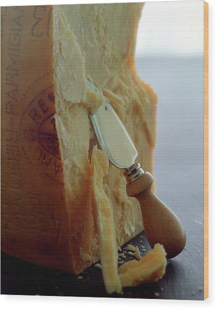 Parmigiano-reggiano Cheese Wood Print