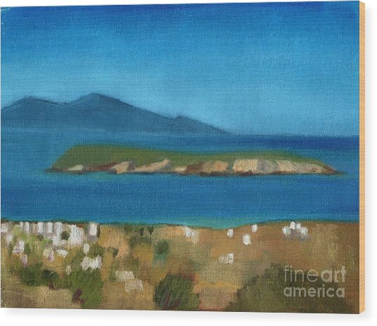 Paros Plain Air Wood Print by Kostas Koutsoukanidis
