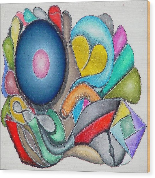 Parrot Series 0 Wood Print by George Curington